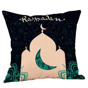 Image 2 - Eid Al Fitr Linha Carta Padrão Almofada Lance Fronhas Capa de tecido Super macio Casa Cama Fronha Travesseiro Cobre