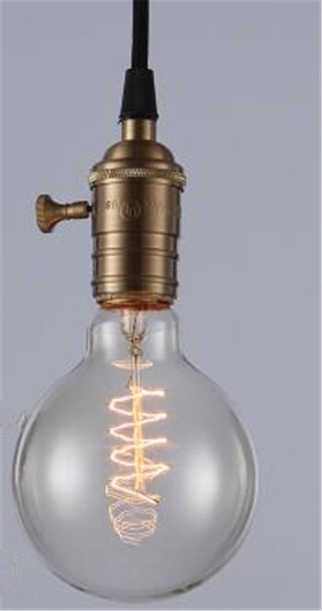 Ретро лампа E27 винтажные нить накаливания Light 220 В лампа накаливания G95 ST64 ST30 лампы для домашнего декора Bombillas наружного освещения - Цвет: Красный