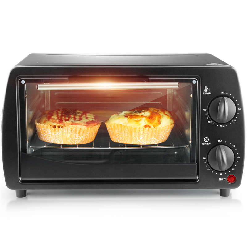 DMWD 2 Layer 9L Mini Electric Baking Oven 220V Home Pizza Oven Baking Tools For Cakes Chicken Wing Temperature Control Timing multi function home mechanical 19l electric oven horizontal cake bread baking machine mini oven temperature control timing gift