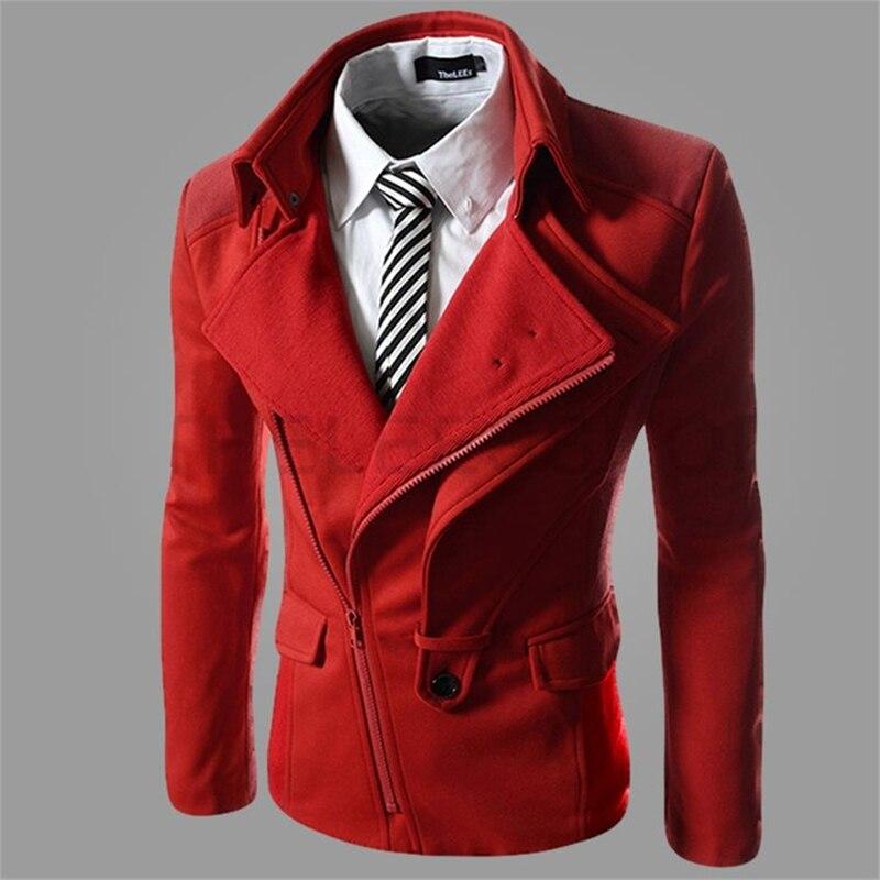Irregular oblique zipper Fashion Men Jacket Men's Hooded Casual Jackets Male Spring Autumn Coat Thin Outwear Couple dropshipping
