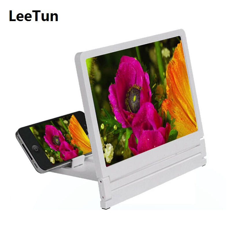 3X Large Screen Magnifier for Mobile Cell Phone Enlarge Screen with Holder Stand for Wacthing TV