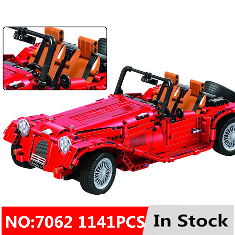 New Diy 1141pcs Technic red convertible car building blocks bricks Educational toys for children and kid