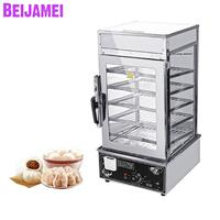 BEIJAMEI Commercial Bun Bread Food Steam Glass Showcase Stainless Steel Electric Food Steamer For Sale
