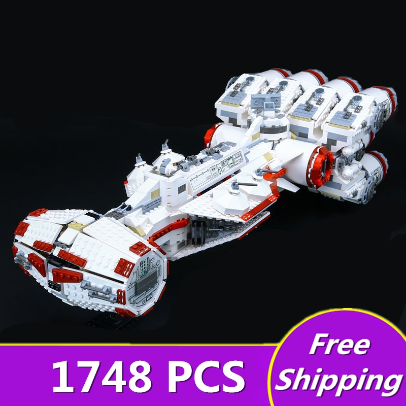 Lepin 05046 Star 1748Pcs Series Wars The Tantive IV Blockade Runner 10019 Educational Building Blcoks Bricks Toys for Boy's DIY sme series iv