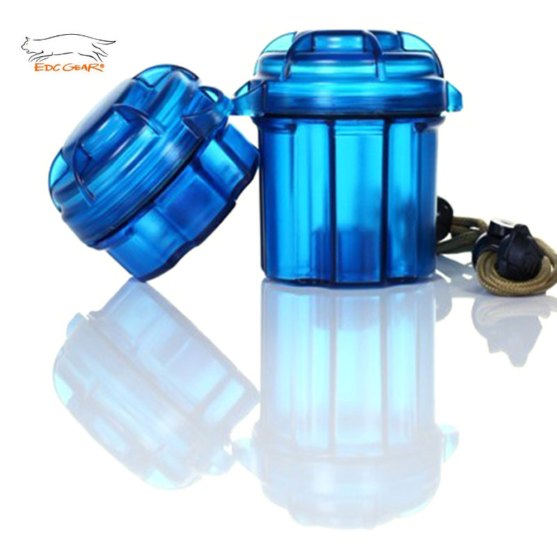 Delightful 1Set (big+small) Quality Outdoor EDC Gear Survival Capsule Waterproof  Storage Container Battery Holder Box Case Tool Camping