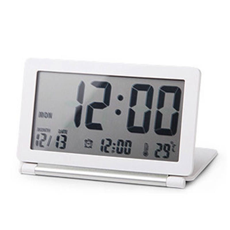 Ultra Thin Clamshell Electronic Desk Clock LCD Travel ...