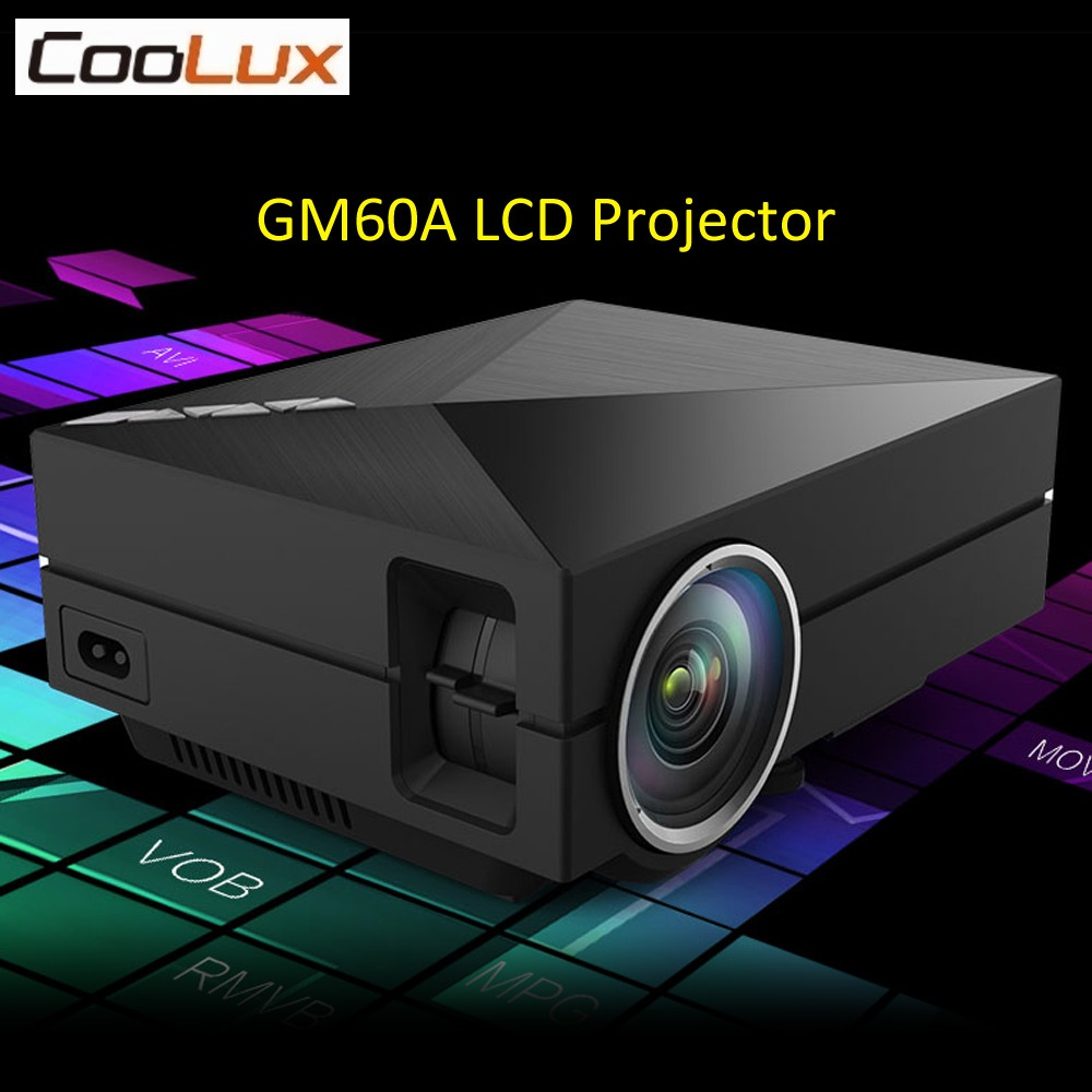 Coolux GM60A LCD LED Projector 1000Lm 800 x 480 Pixels 1080P HD Home Theater Cinema Support Miracast Airplay Mini Proyector цены онлайн