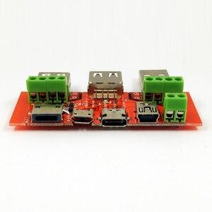 Image 4 - Destek tipi c MiNi mikro USB iPhone5s/6 s Yıldırım protokolü Tek tel kelepçe USB veri transferi testi kurulu USB adaptör plakası