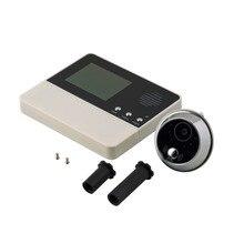 """2.8 """" LCD Ekran Dijital Elektrik Video-göz Paslanmaz Çelik Görsel Monitör Kapı Peephole 90 derece Görüş Açısı Peep delik"""