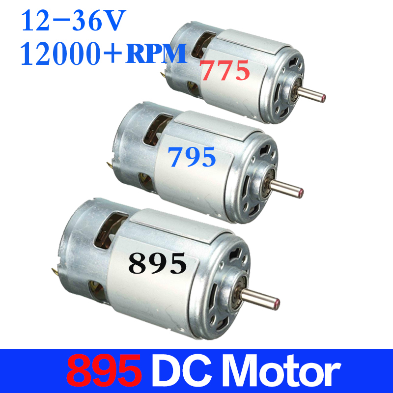New DC 12V-24V Large Torque Motor High-power Low Noise 895 Motor Double ball bearings Low Speed 775 Upgrade Motor 4575 dc high power tubular motor dc12v 24v dc motor high power long life low noise