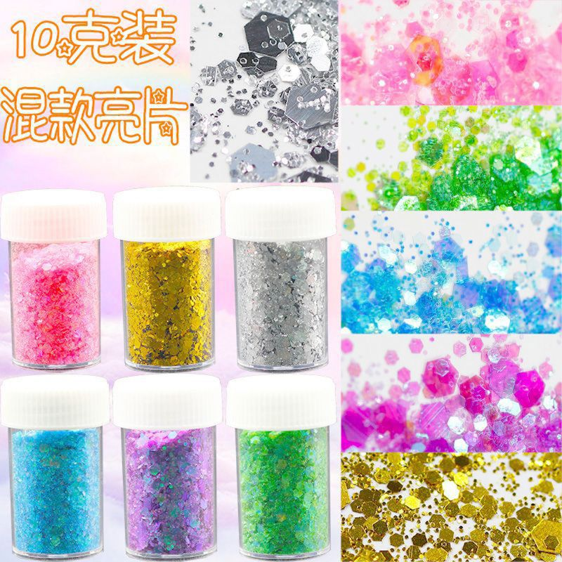12 Colors Mixed Shiny Colors Sequins Spangles Resin Fillings Crystal Mud Jewelry Making