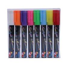 8 цветов технические Меловые маркеры для школы рисования круглые