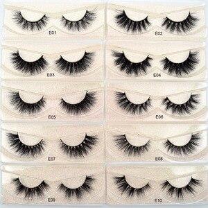 Image 3 - Free DHL 100 Pairs Wholesale 3D Real Mink Eyelashes High Quality Handmade False Eyelashes Extension 68 Styles Mink eyelashes