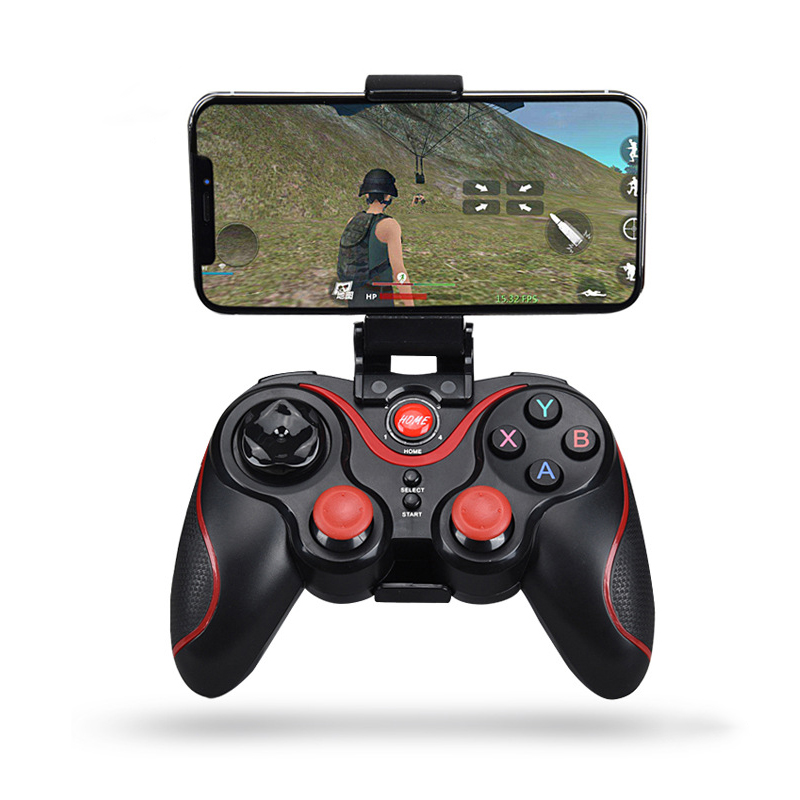 Wireless Android Gamepad Z6 X3 Wireless Joystick Game Controller Bluetooth BT3.0 Joystick For Mobile Phone Tablet TV Box Holder(China)
