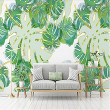 beibehang papel de parede Custom vinyl wall Nordic minimalist fresh tropical fish leaf wallpaper bedroom papers home decor