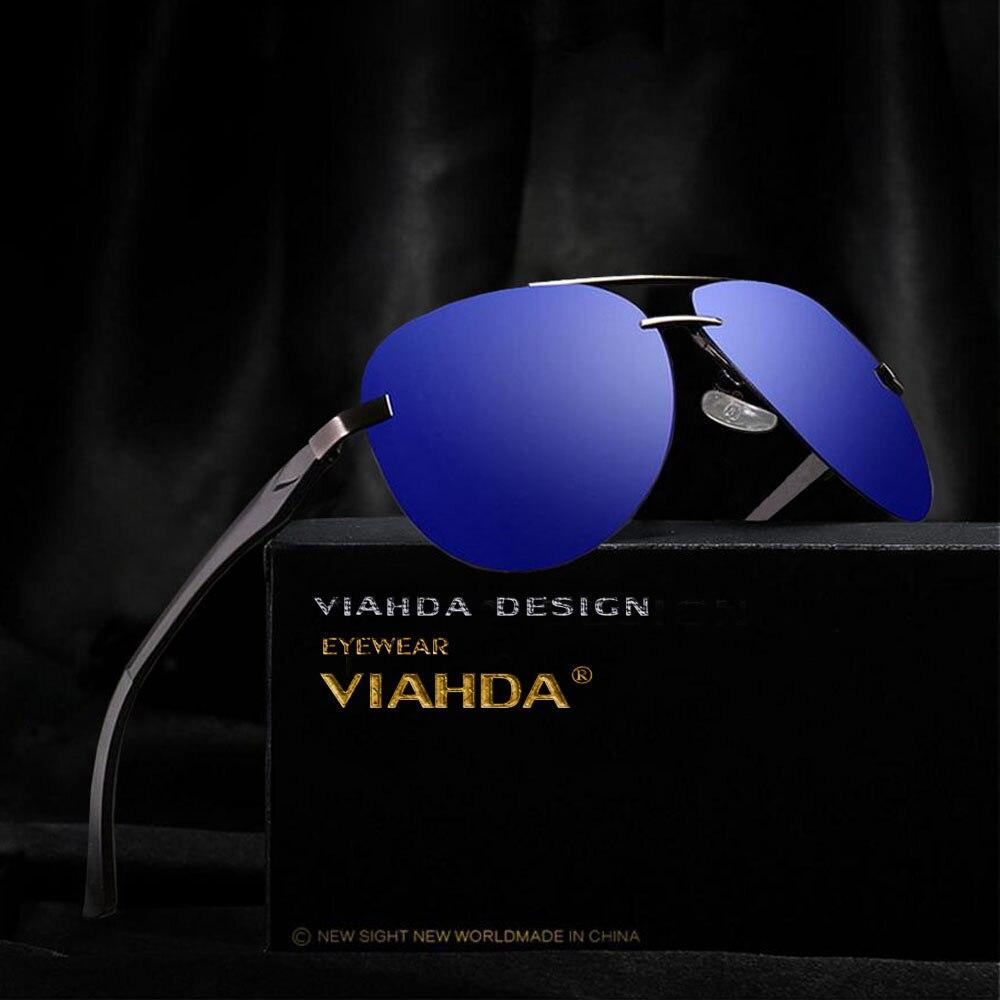 29a9f38701 Cheap VIAHDA piloto clásico hombres conducción gafas de sol polarizadas sin  montura hombre conductor sol vidrio
