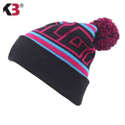 06f625ae 2016 Factory Direct sale Pompom Beanie Hats For Women Knitted Pompom Hat  Winter Custom Beanie Hats with Top Ball