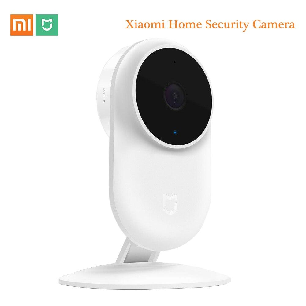Original xiao mi jia 1080 p câmera ip 130 graus fov visão noturna de segurança câmera inteligente 2.4 ghz dupla-faixa para casa kit mi casa