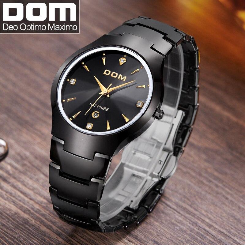 DOM Watches men Business Dress luxury brand Top Watch quartz men women Lovers wristwatches dive 200m