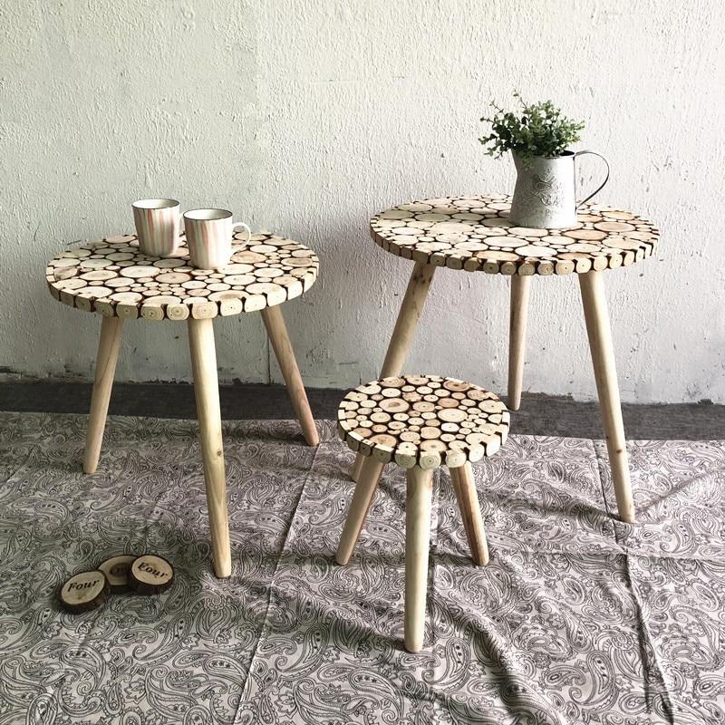 Moderne Minimalistischen Kreative Hause Wohnzimmer Tisch Kombination  Dekorative Tee Tisch Runden Tisch Palette Rack Wandmalereien Einrichtung