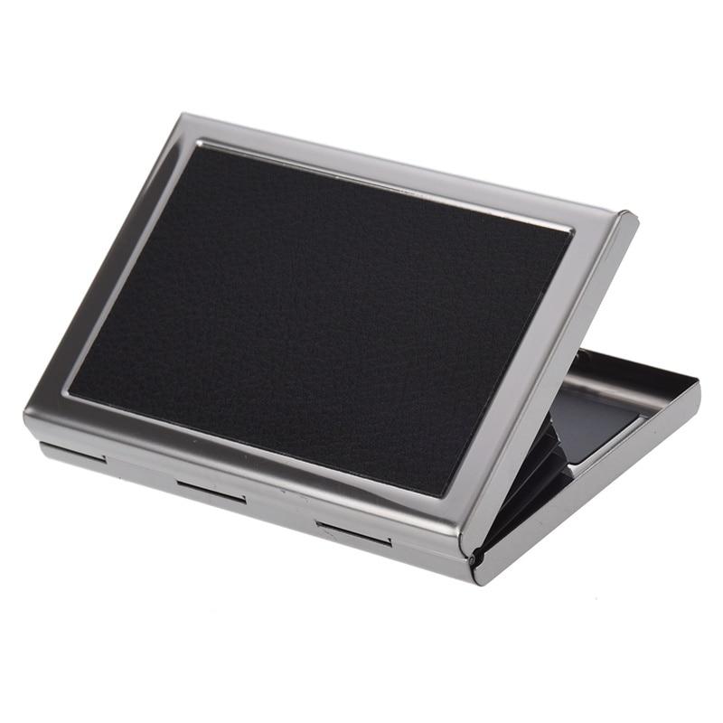 Portefeuille de poche étanche en aluminium étui de boîte de transport de carte de crédit d'affaires noir - 3