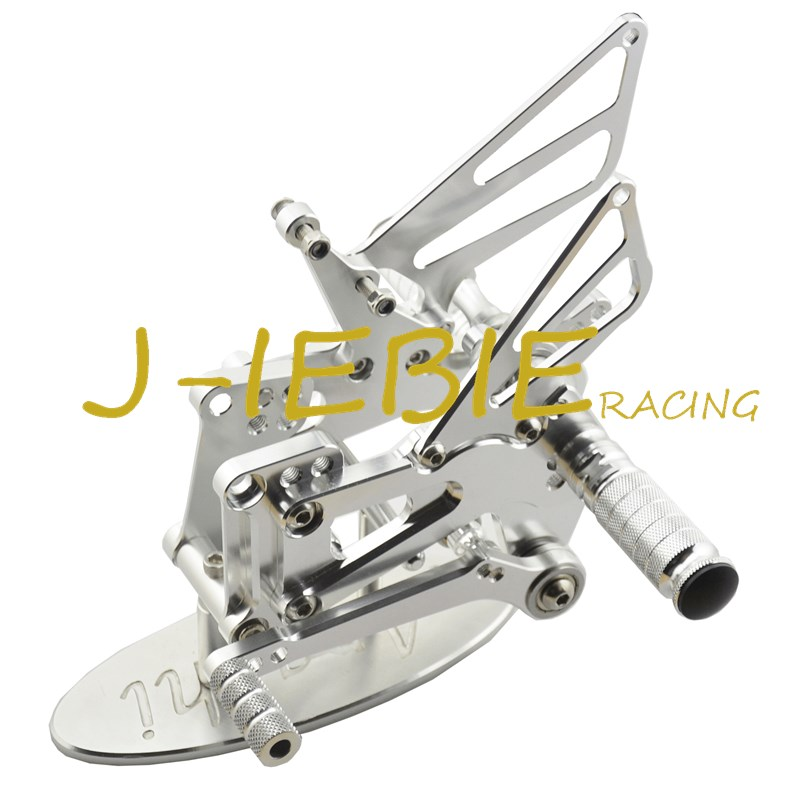 CNC Racing Rearset Adjustable Rear Sets Foot pegs Fit For BMW S1000RR 2009 2010 2011 2012 2013 2014 SILVER car rear trunk security shield shade cargo cover for nissan qashqai 2008 2009 2010 2011 2012 2013 black beige
