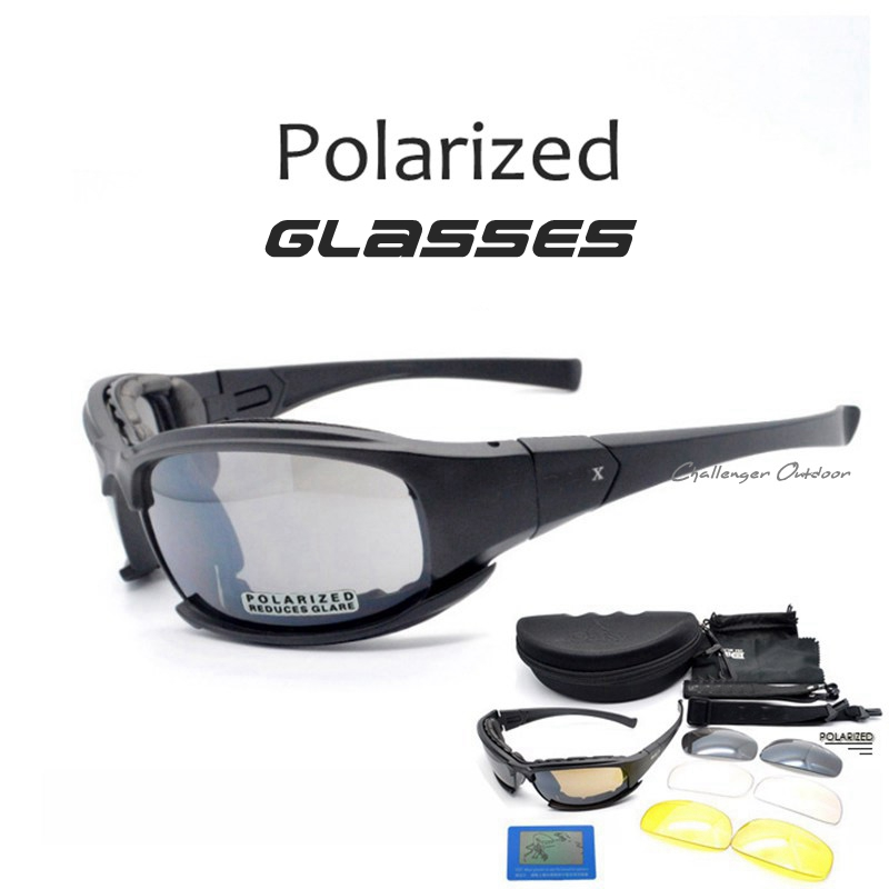 Tactical Goggles Men Military polarized Sunglasses Bullet-proof airsoft shooting Gafas 4 len Motorcycle Cycling daisy x7 Goggles