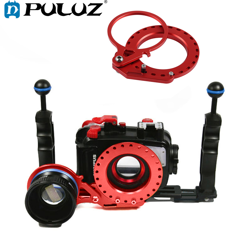 PULUZ 67mm To 62mm Swing Wet-Lens Diopter Adapter Mount Connector For Canon G7 X II /Sony Camera Underwater Diving Housing Case