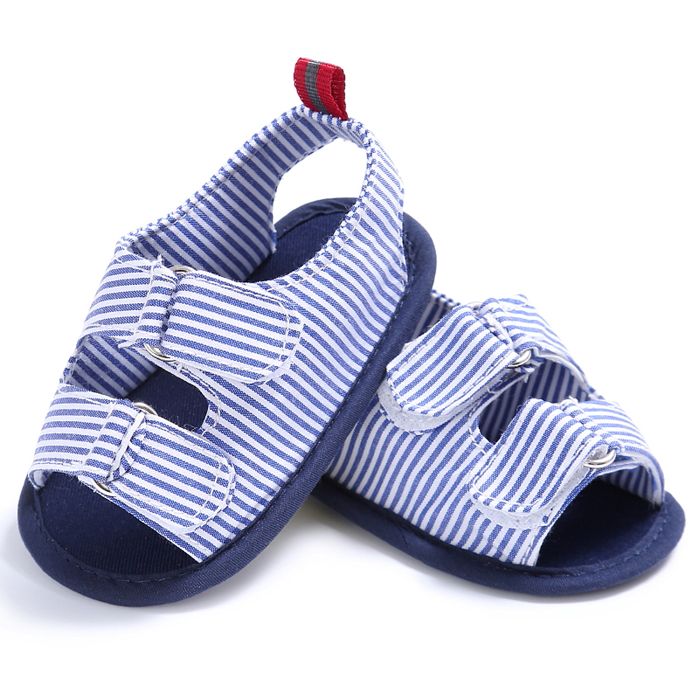 Striped Baby Shoes Summer Infant Toddler Kids First Walker Soft Sole Canvas Shoes Newborn Anti Slip Sneakers 0-18M