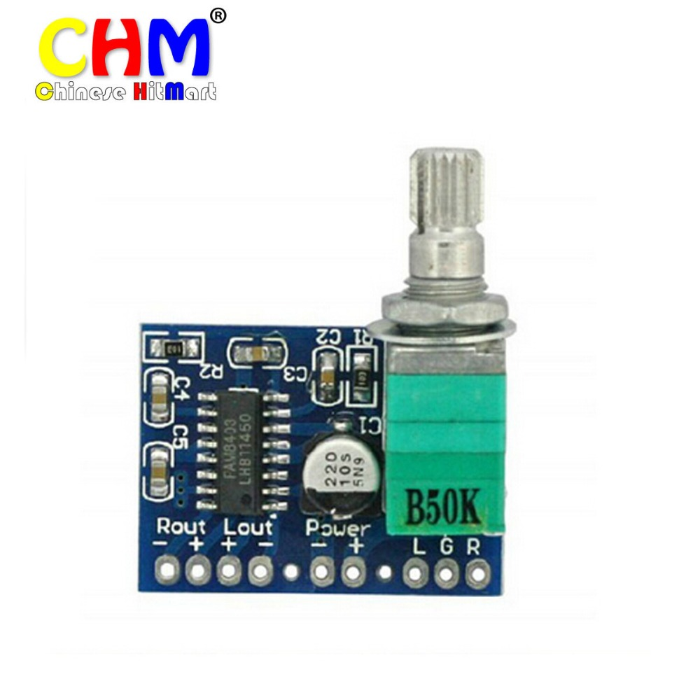 PAM8403 Mini 5V Audio Ampli Digital Amplifier Board Support USB Powered Two Channel Stereo Amp 3W+3W PAM8403 Board #LU02