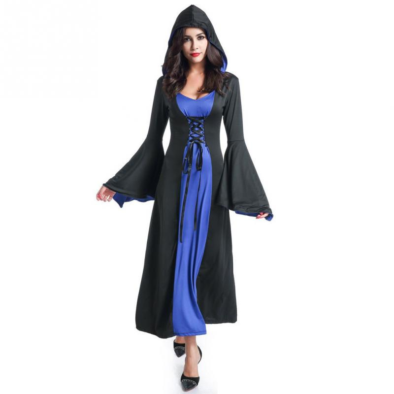 3beefeecbf0 Halloween Death Vampire Cosplay Costumes Party Witch Hoodie Costume Grim  Reaper Women Long Dress Cosplay Clothes Stage Suit  831-in Dresses from  Women s ...