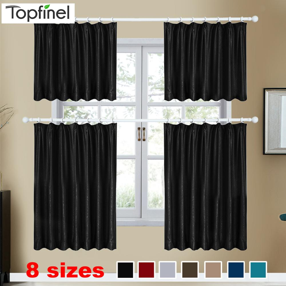 Topfinel Modern Short Curtains Solid Velvet Curtains For Living Room Soft Comfortable Curtains Warm Night Door Window Blinds
