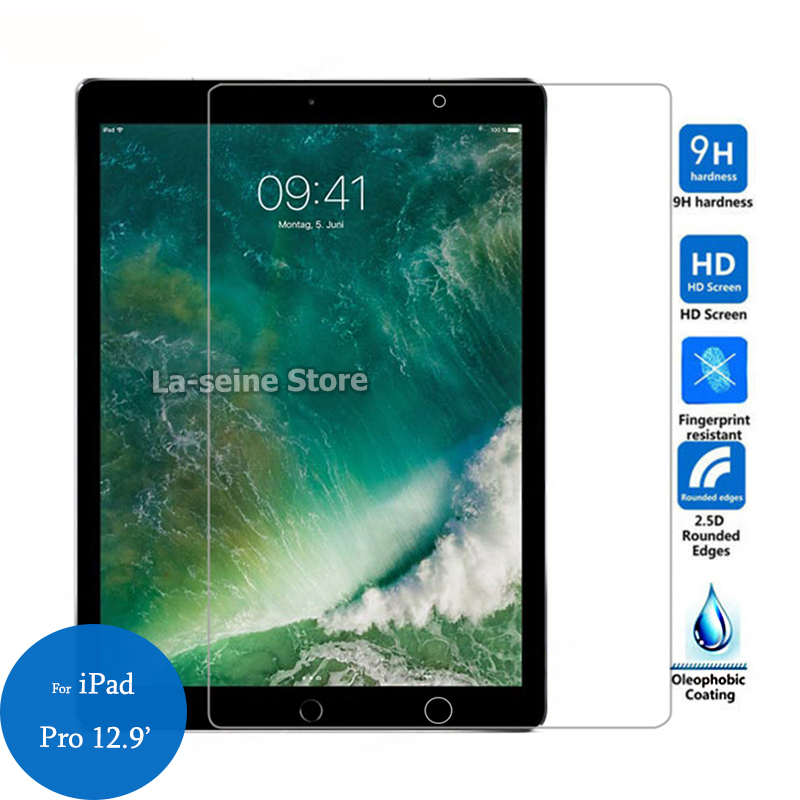 Tempered Glass For Apple iPad Pro 9.7 10.5 12.9 inch 2017 2018 Tablet Screen Protector 9H Toughened Protective FilmTempered Glass For Apple iPad Pro 9.7 10.5 12.9 inch 2017 2018 Tablet Screen Protector 9H Toughened Protective Film