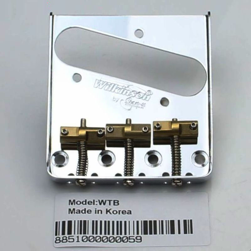 Wilkinson WTB Chrome silve Vintage Style Fixed Tele Electric Guitar Bridge With Brass Saddles for TL Guitar bridge-in Guitar Parts & Accessories from Sports & Entertainment