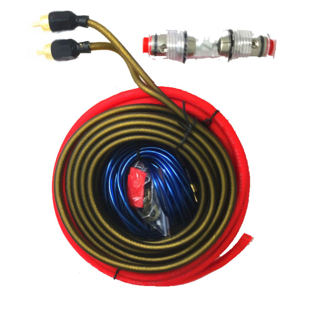 Best Price Subwoofer Amplifier Speaker Installation 8GA Car Power with Fuse Holder Audio Wire Cable Kit