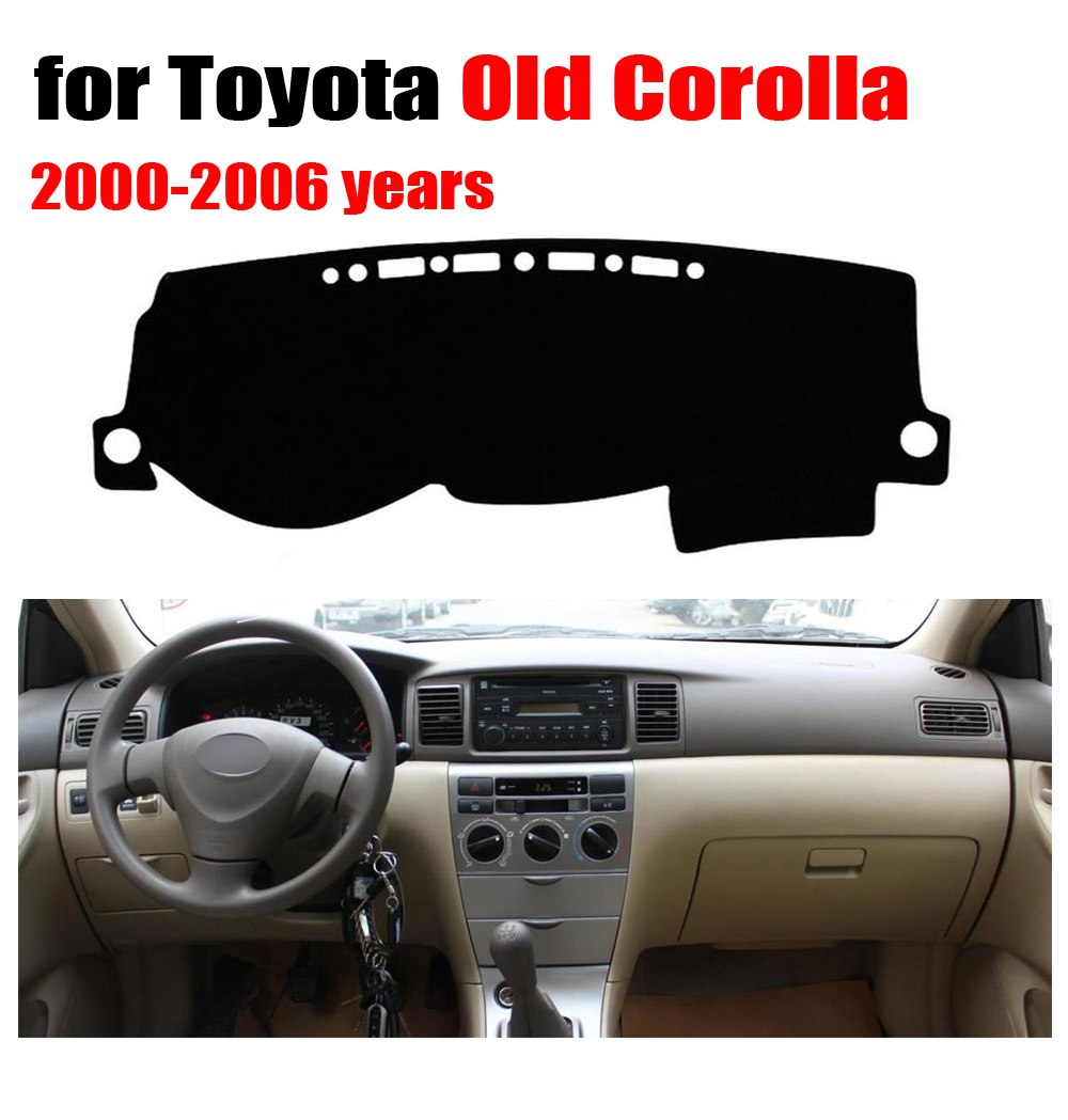 Car dashboard cover mat for TOYOTA old COROLLA 2000-2006 years Left hand drive dashmat pad dash mat covers dashboard accessories air intake aluminium pipe kit for toyota corolla 1 6 1 8 2 0 rumion of rh drive noah pls contact for other car models