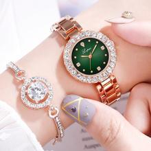 2019 mode Gold Dame Armbanduhr Luxus Einfache Frauen Armband Uhren Beiläufige Stilvolle Weibliche Geschenk Uhr 2 Pcs set Ulzzang Stil