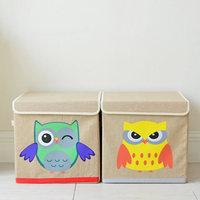 Japan Stil Eule Cartoon Aufbewahrungsboxen Tuch kinderzimmer Kleidung Spielzeug mit abdeckung faltender sortierung Box