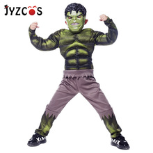 JYZCOS Hulk Costume Halloween Costumes for Kids Boys Avengers Superhero Cosplay Costume Party Carnival Costume Fantasy Mask carnival costume christmas costume boy cosplay the hulk anime characters halloween costume for kids clothes