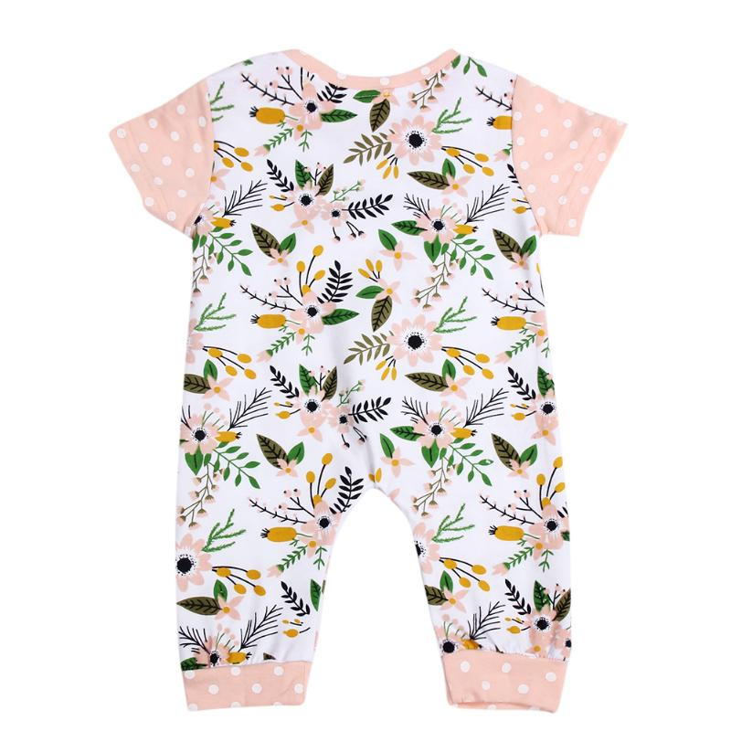 1pc Fashion Newborn Kids Toddler Baby Girl Boy Clothes Newborn Kids Toddler Baby Short Sleeve Romper Floral Jumpsuit Playsuit