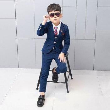 83703e5778eb7 2019 Yeni 3 ADET Çocuklar Ekose Düğün Blazer Takım Elbise Çiçek Erkek Resmi  Smokin Okul Takım Elbise Çocuklar Bahar Giysileri Çocuk Takım Elbise