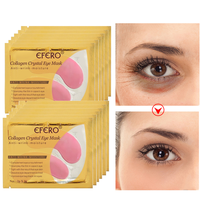 EFERO 5pair=10pcs Collagen Eye Mask Eye Pads Skin Care Hydrogel Patches for Eyes Mask Anti Dark Circle Anti-Puffiness Face Mask 2
