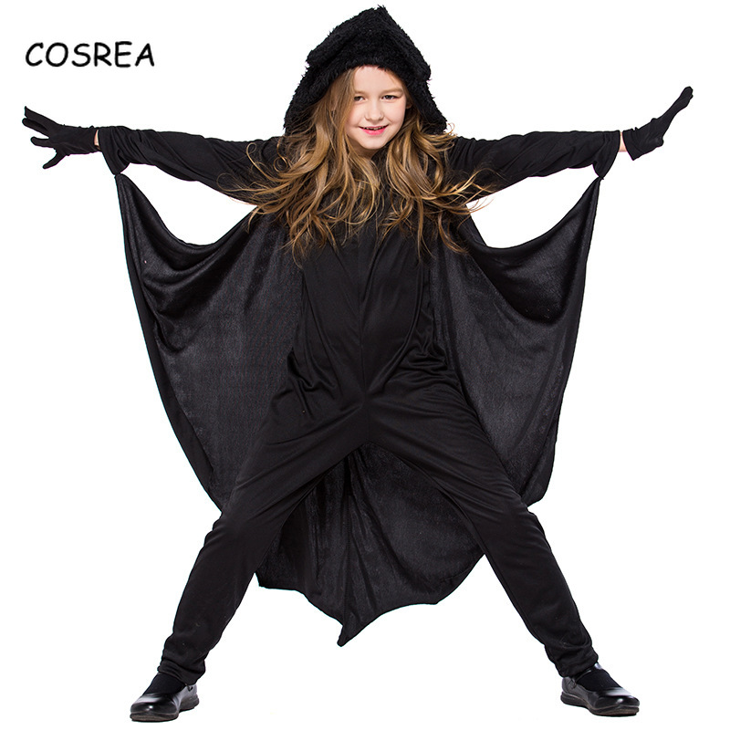 Batman Jumpsuits Rompers Zentai Suit Gloves Full Bodysuit Black Long Sleeve Fitness Wings Clothes Vampire Cosplay Costumes