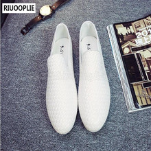 RIUOOPLIE Fashion Men's Shoes Woven Slip On Casual Driving Walking Loafers Flat Sandals