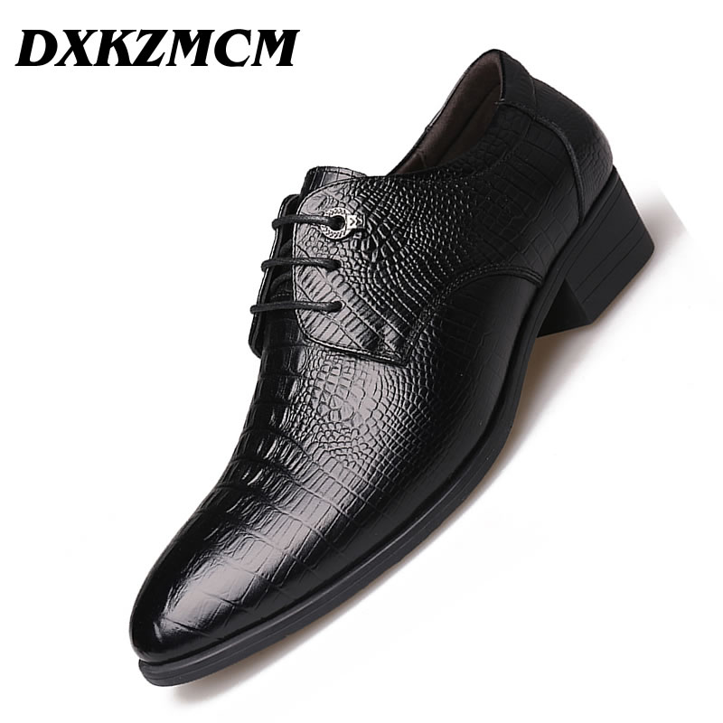 DXKZMCM Handmade Genuine Leather Men Flats Men Shoes, Men Dress Shoes , Men Oxfords Formal Shoes aomardon men