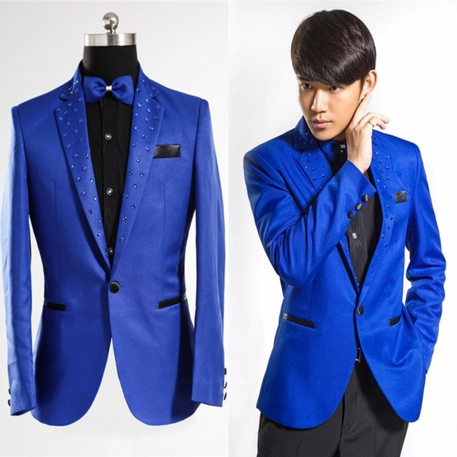 Royal Blue Tuxedo Men fashion 2017 Brand Clothing Suit Jacket Men ...