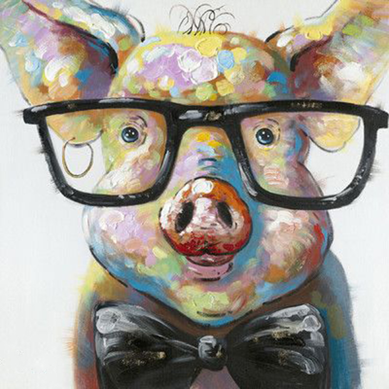 aliexpress com buy hand painted moe s home collection smart pig