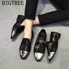 Мужские итальянские ботинки; модельная официальная обувь; мужские лоферы; коллекция года; мужские кожаные роскошные туфли; sapato social masculino ayakkabi