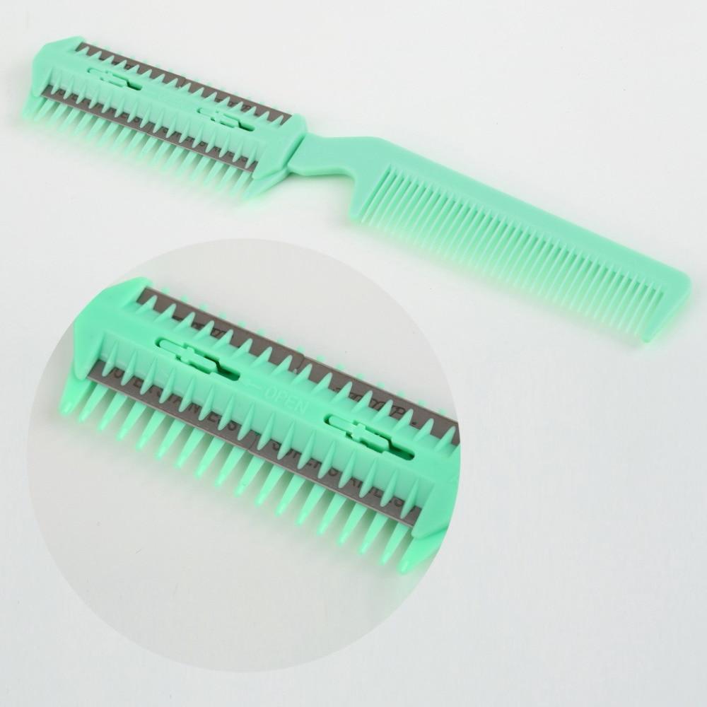 1pcs Brand New Hair Razor Comb Scissor Professional Home Thinning