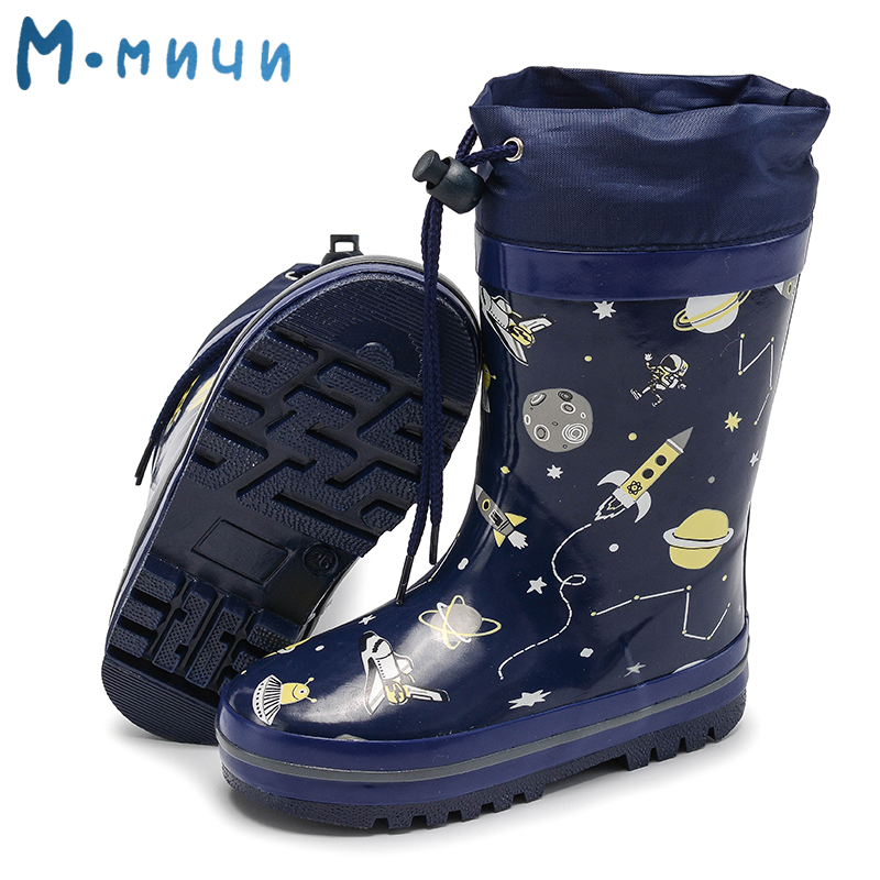 f4b4e806e MMNUN 2018 cálido tobillo botas de invierno para niños Anti-slip niños  invierno zapatos impermeables